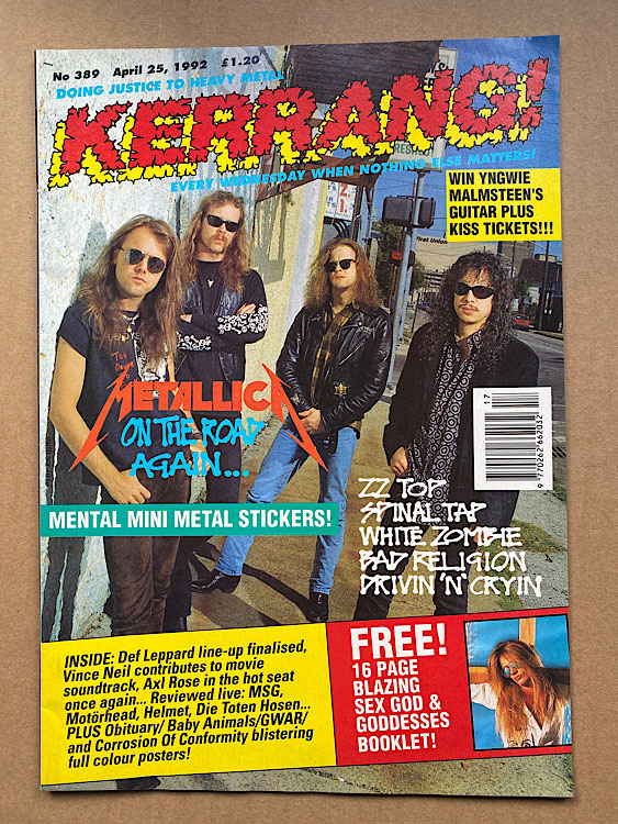 METALLICA - Kerrang No.389