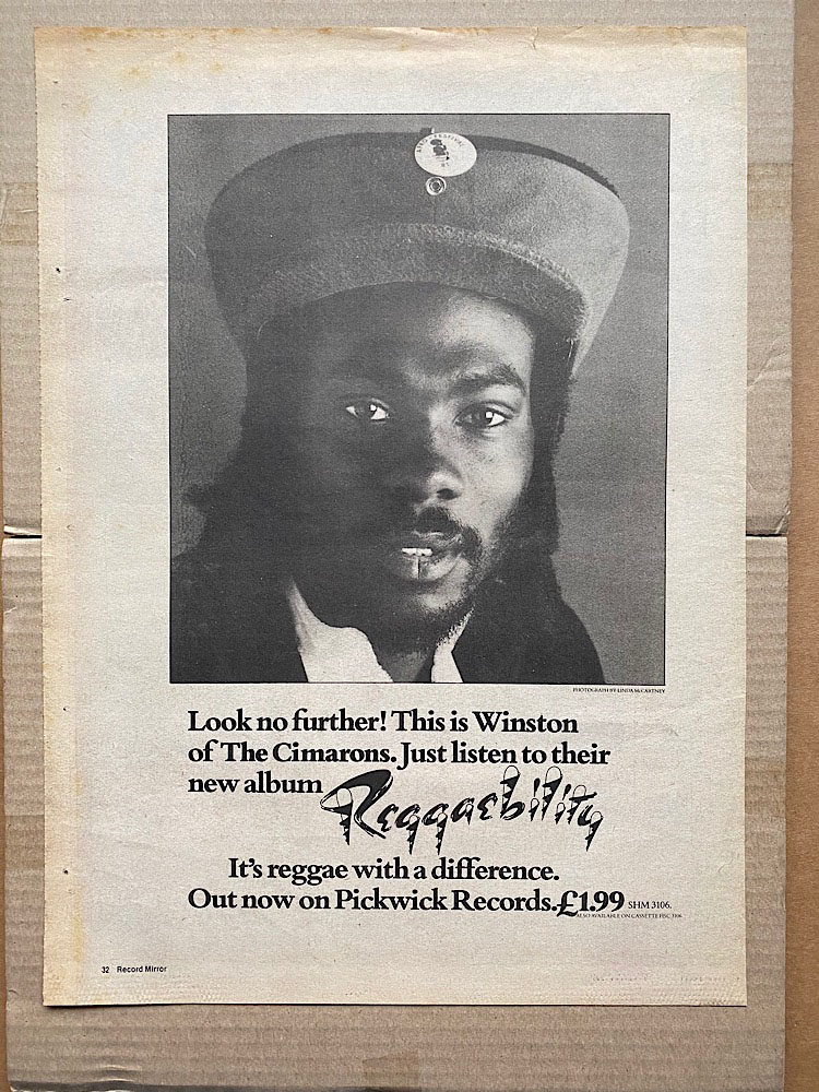 CIMARONS - REGGAEBILITY - Poster / Affiche