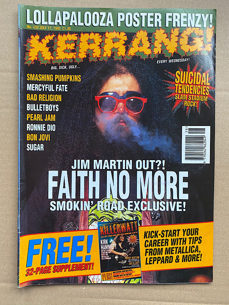 FAITH NO MORE - KERRANG NO.452