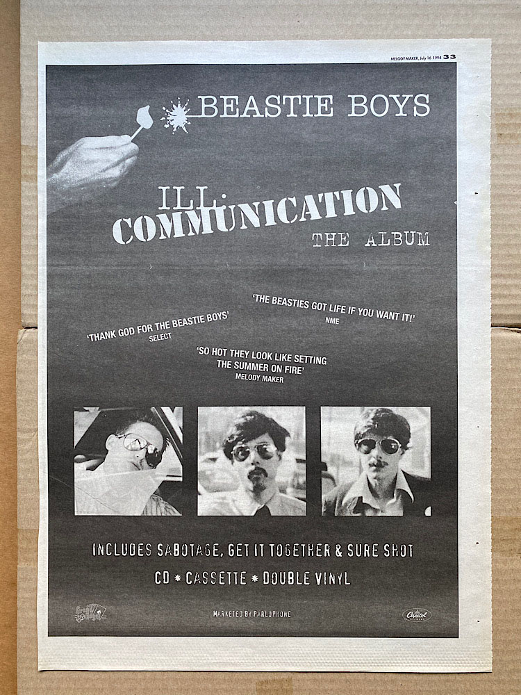 BEASTIE BOYS - ILL COMMUNICATION (A) - Poster / Affiche