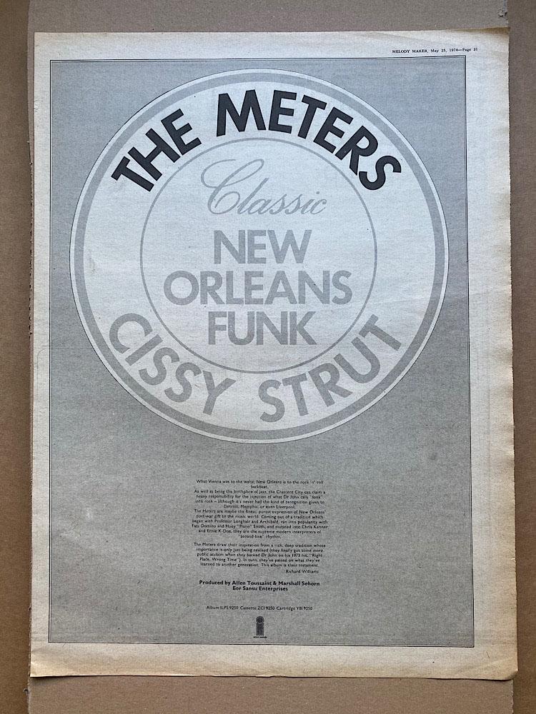 METERS - CISSY STRUT - Poster / Display