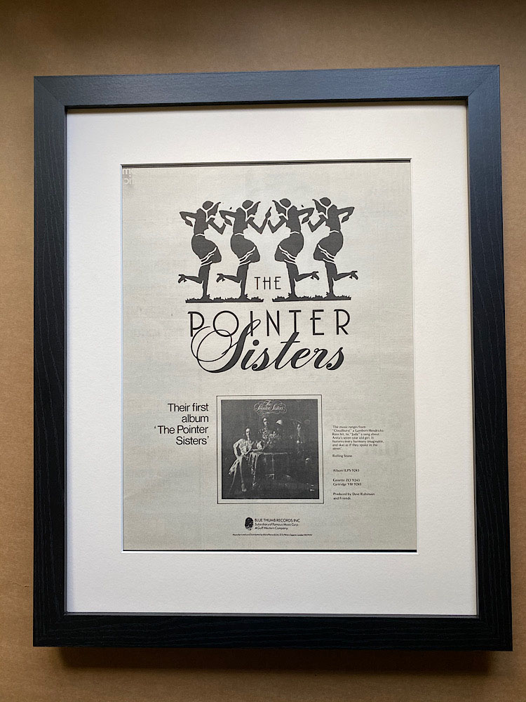 POINTER SISTERS - FIRST ALBUM (FRAMED) - Poster / Affiche