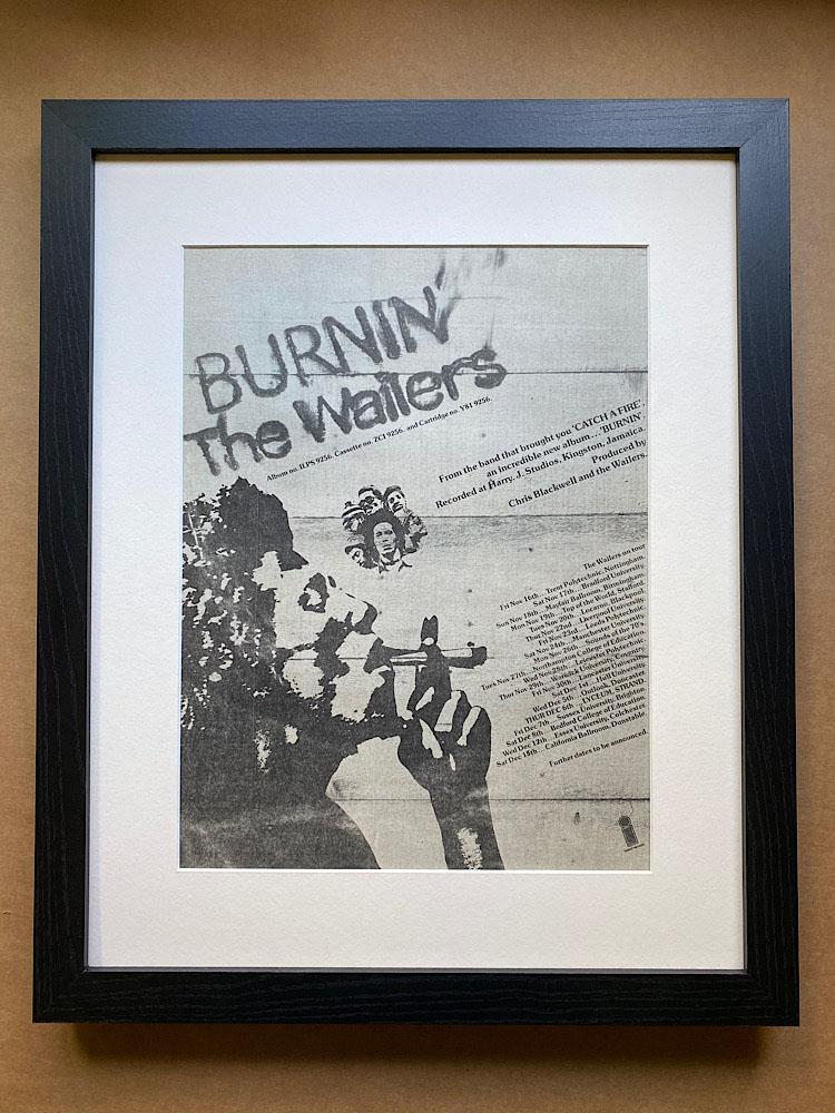 WAILERS - BURNIN' (FRAMED) - Poster / Affiche