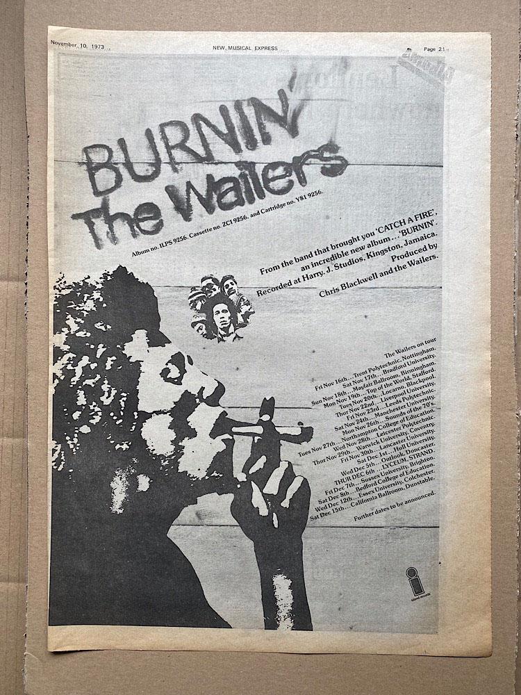 WAILERS - BURNIN' - Poster / Affiche