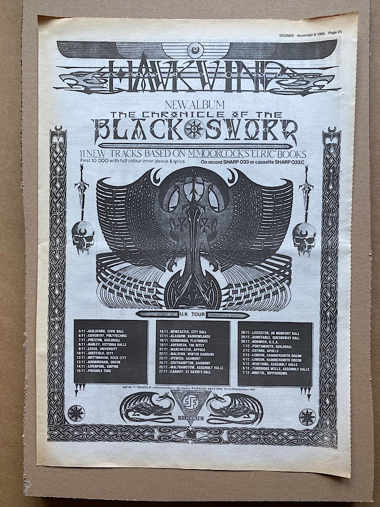 HAWKWIND - CHRONICLE OF THE BLACK SWORD - Poster / Display