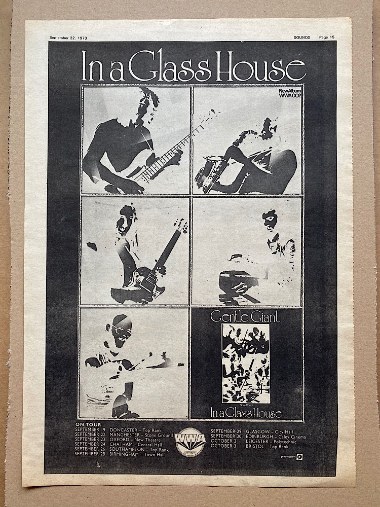 GENTLE GIANT - IN A GLASS HOUSE (B) - Poster / Display