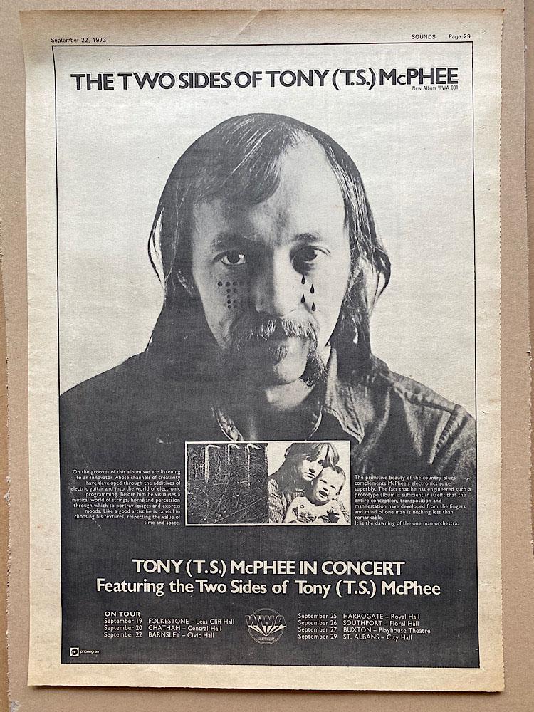 TONY MCPHEE - TWO SIDES OF TONY T.S. MCPHEE (B) - Poster / Display