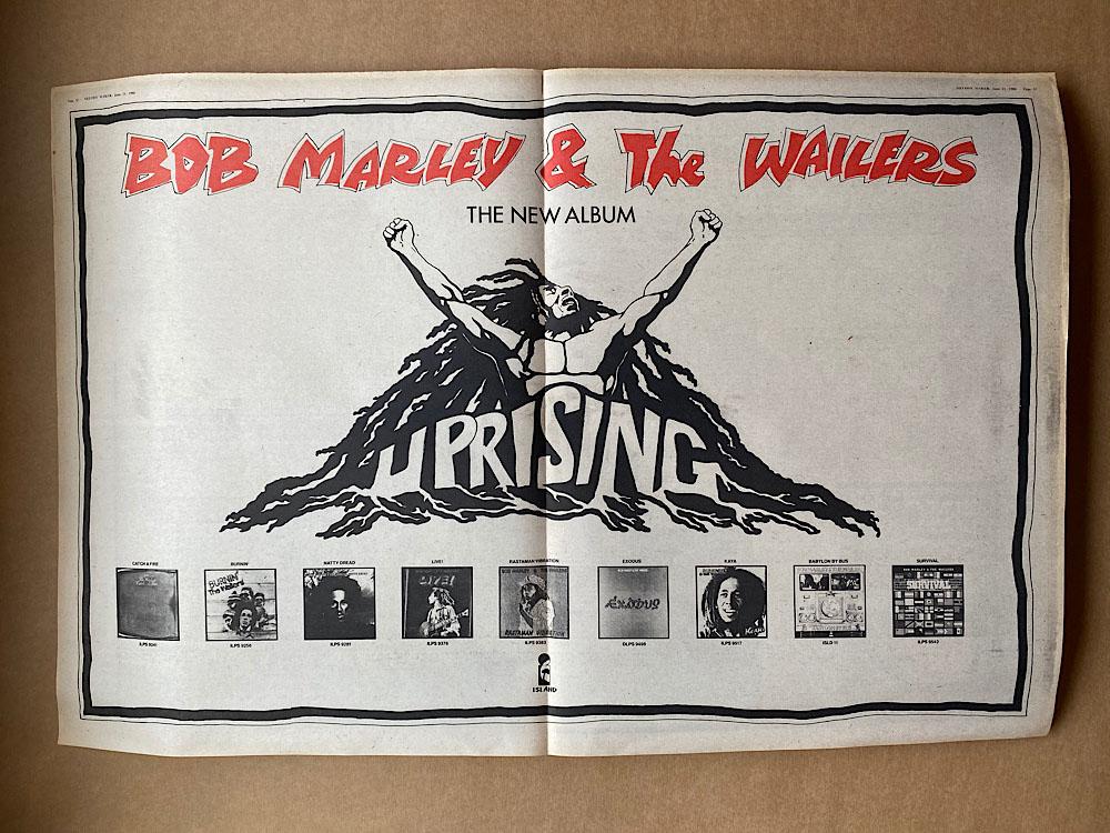 BOB MARLEY - UPRISING(B) - Poster / Affiche