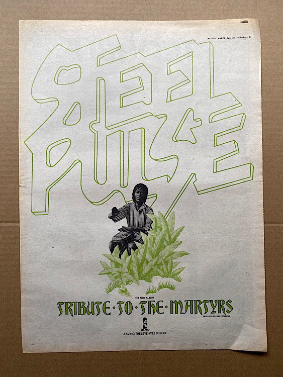 STEEL PULSE - TRIBUTE TO THE MARTYRS - Poster / Affiche