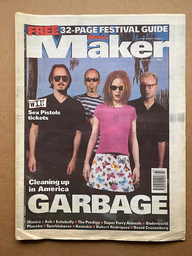 GARBAGE - MELODY MAKER