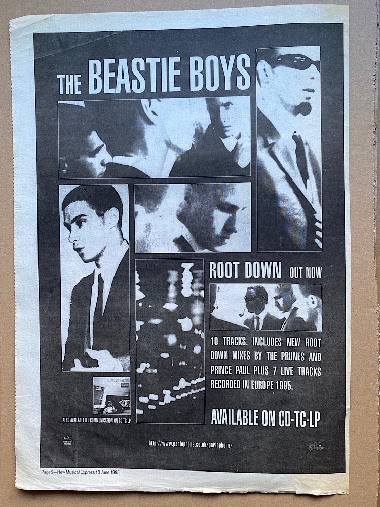BEASTIE BOYS - ROOT DOWN - Poster / Display