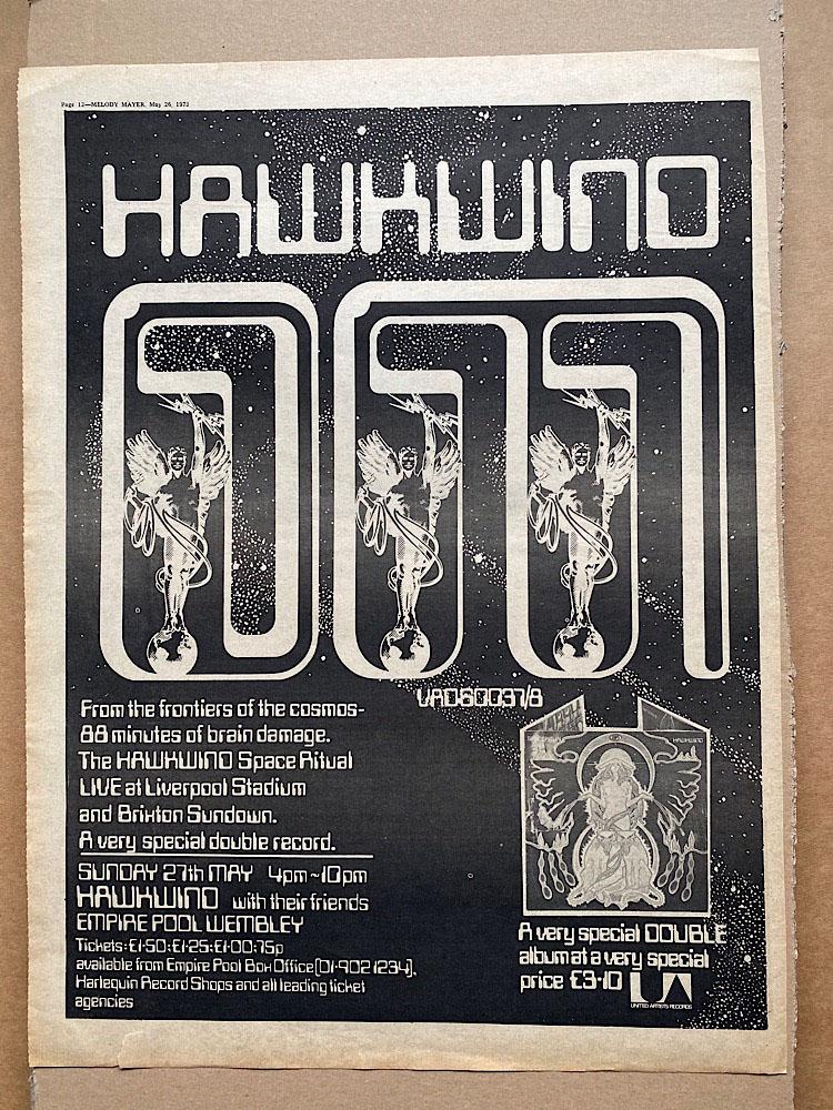 HAWKWIND - SPACE RITUAL - Poster / Display