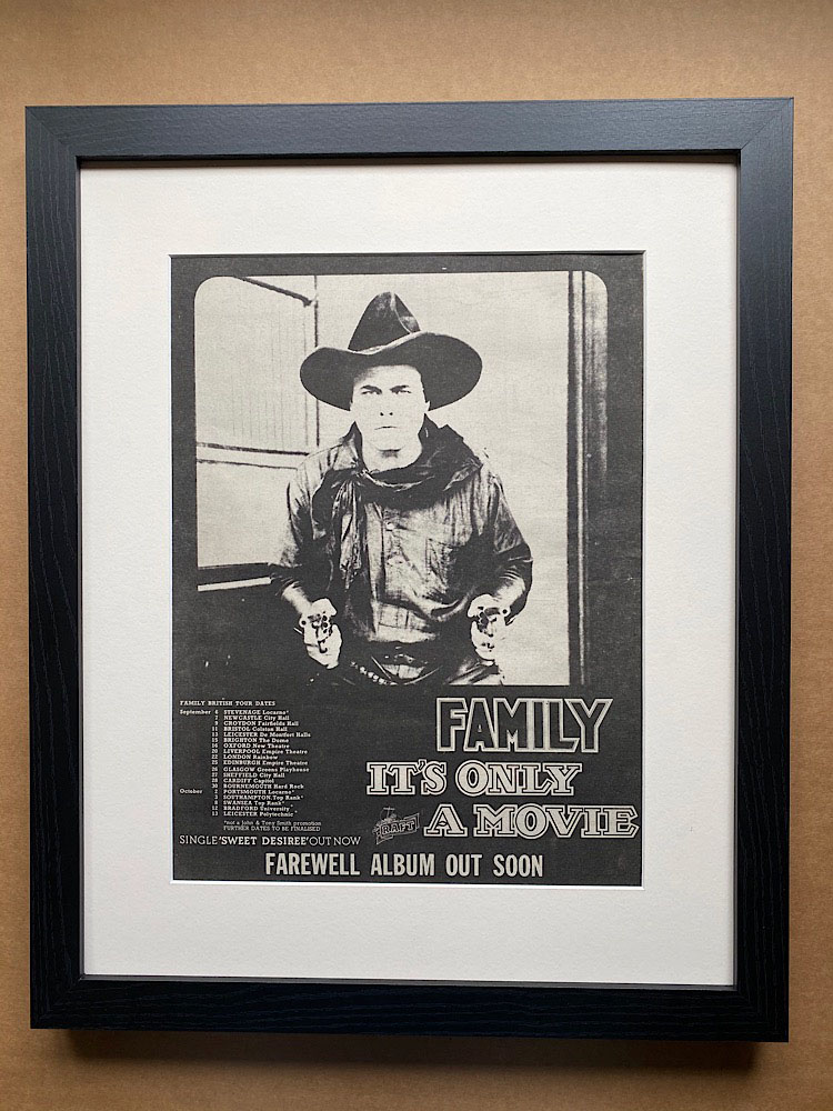 FAMILY - IT'S ONLY A MOVIE (B)(FRAMED) - Poster / Affiche