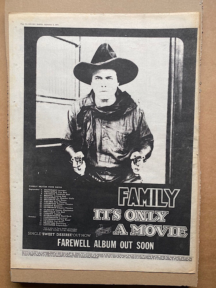 FAMILY - IT'S ONLY A MOVIE (B) - Poster / Display