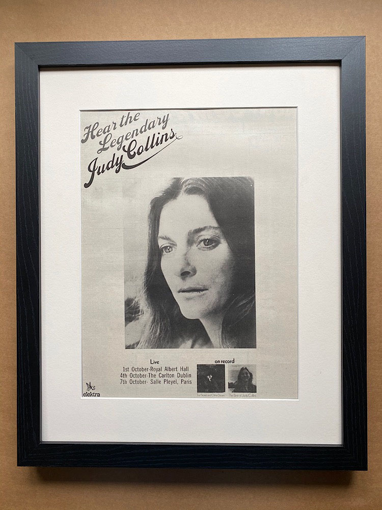 JUDY COLLINS - THE LEGENDARY (FRAMED) - Poster / Display