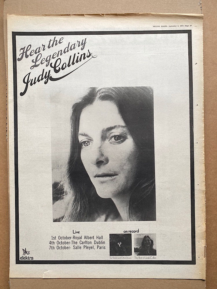 JUDY COLLINS - THE LEGENDARY - Poster / Display