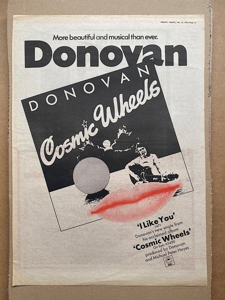 DONOVAN - COSMIC WHEELS (B) - Poster / Display