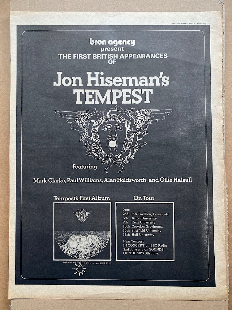 JON HISEMAN - TEMPEST - Poster / Display