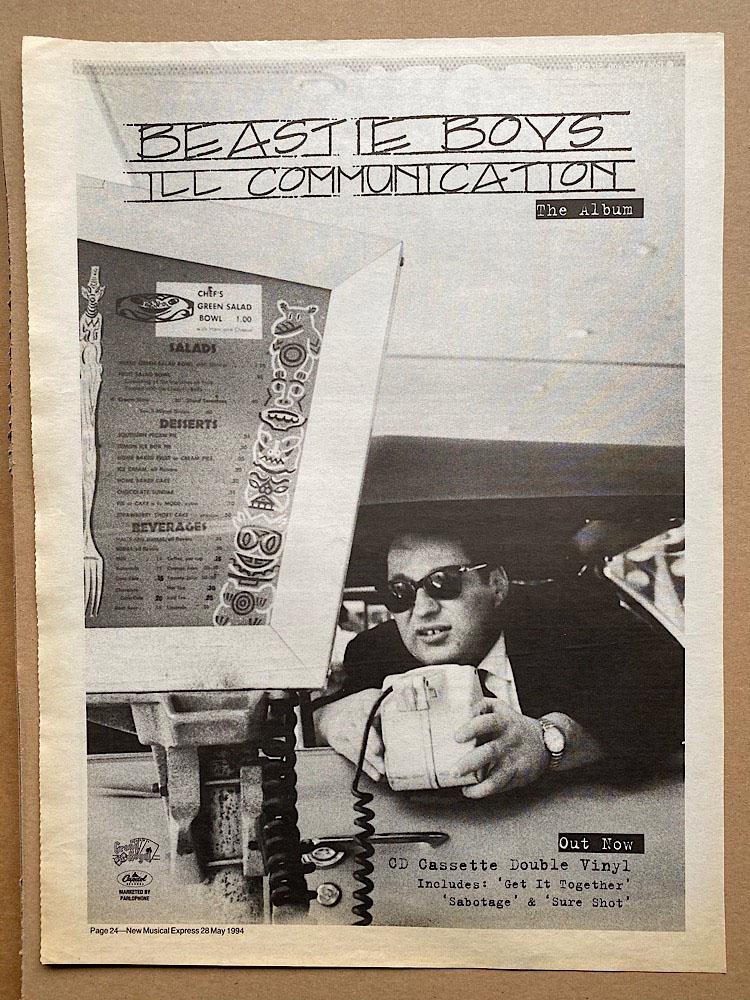 BEASTIE BOYS - ILL COMMUNICATION (B) - Poster / Affiche