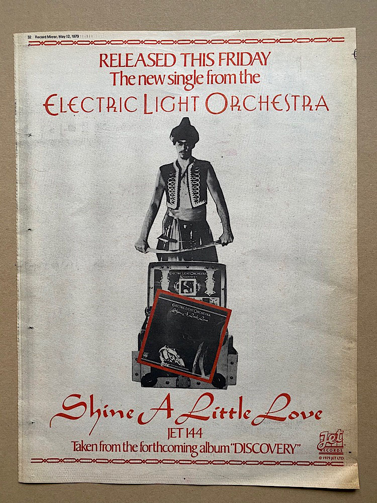 ELO - SHINE A LITTLE LOVE - Poster / Display