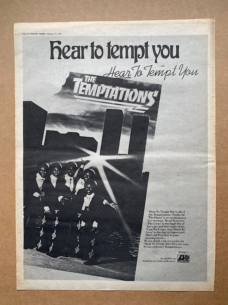 TEMPTATIONS - HEAR TO TEMPT YOU - Poster / Display