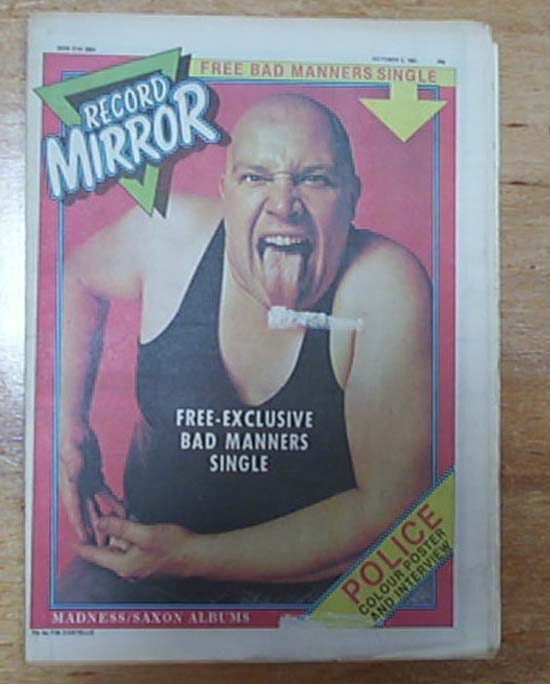 BAD MANNERS - RECORD MIRROR