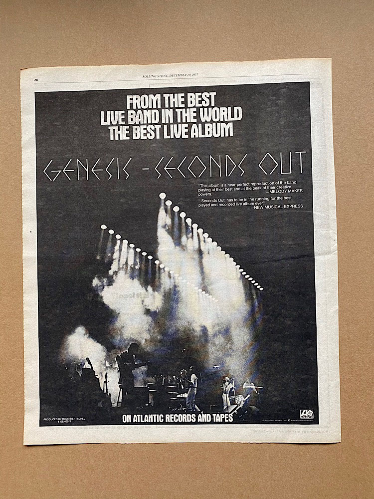 GENESIS - SECONDS OUT (A) - Poster / Affiche