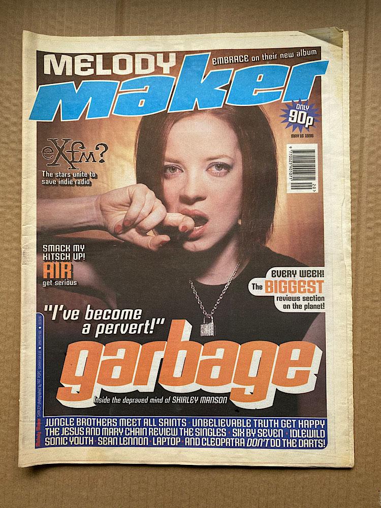 GARBAGE - MELODY MAKER