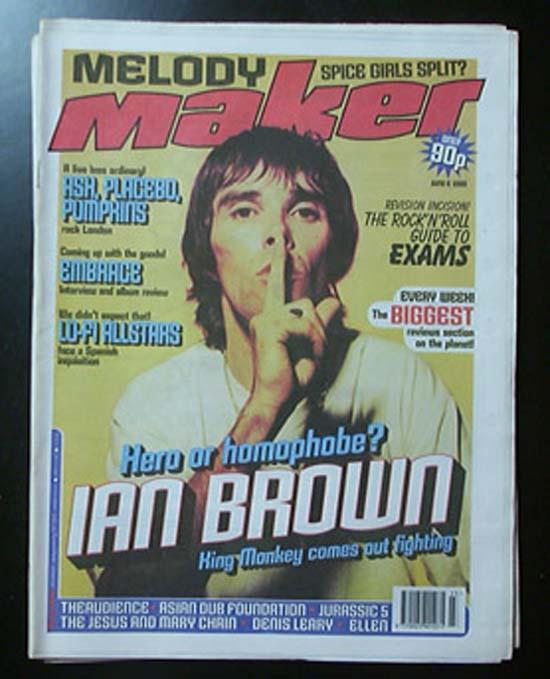 IAN BROWN - MELODY MAKER