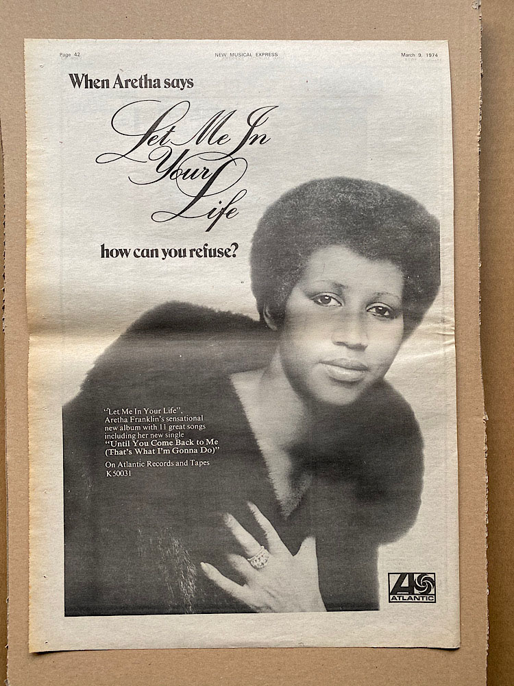 ARETHA FRANKLIN - LET ME IN YOUR LIFE - Poster / Affiche