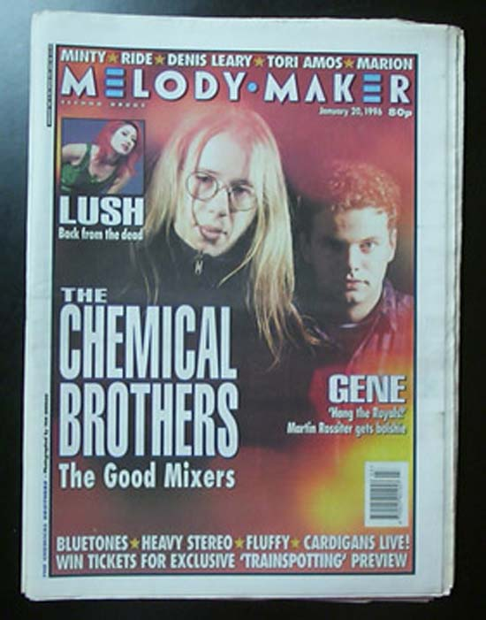 CHEMICAL BROTHERS - MELODY MAKER - Magazine