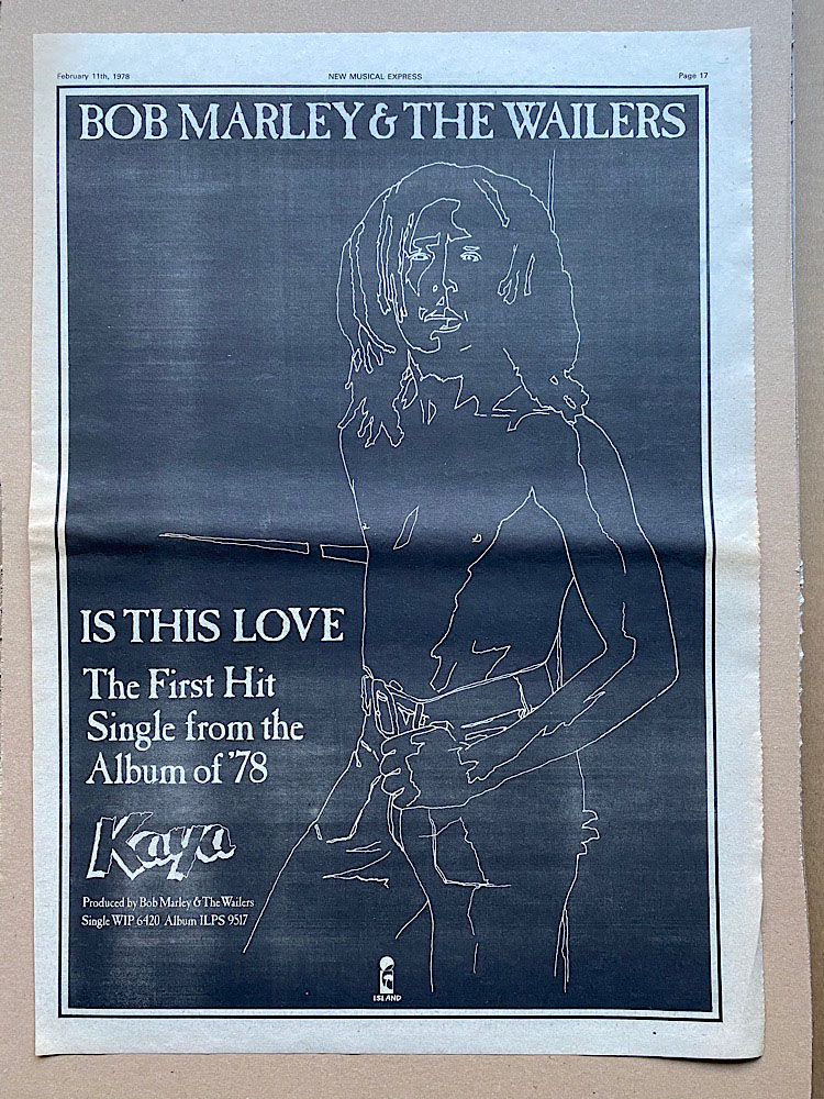 BOB MARLEY - IS THIS LOVE - Poster / Display
