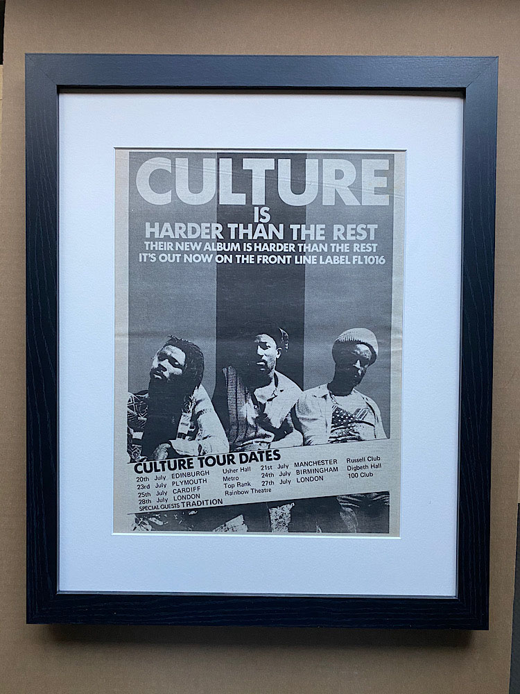 CULTURE - HARDER THAN THE REST (B)(FRAMED) - Poster / Display