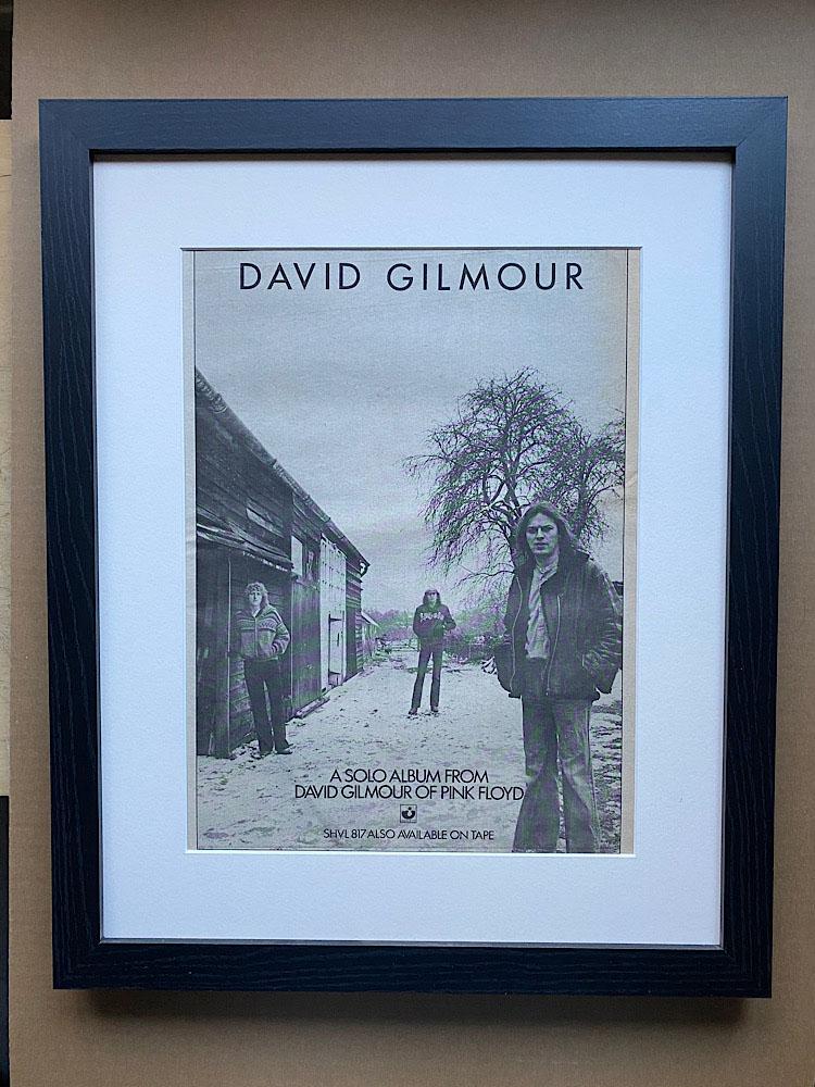 DAVID GILMOUR - DEBUT SOLO ALBUM (FRAMED) - Poster / Affiche