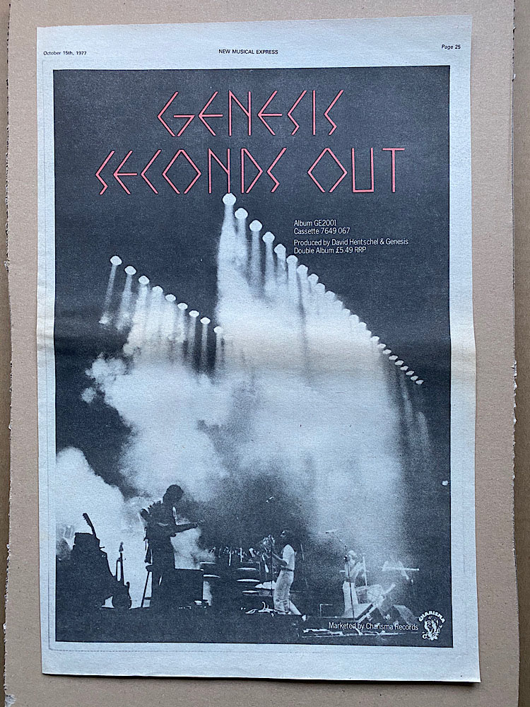 GENESIS - SECONDS OUT (B) - Poster / Affiche