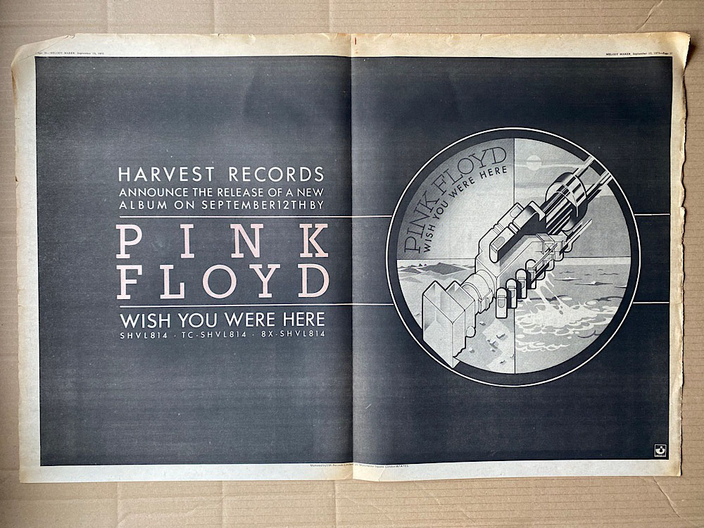 PINK FLOYD - WISH YOU WERE HERE - Poster / Display