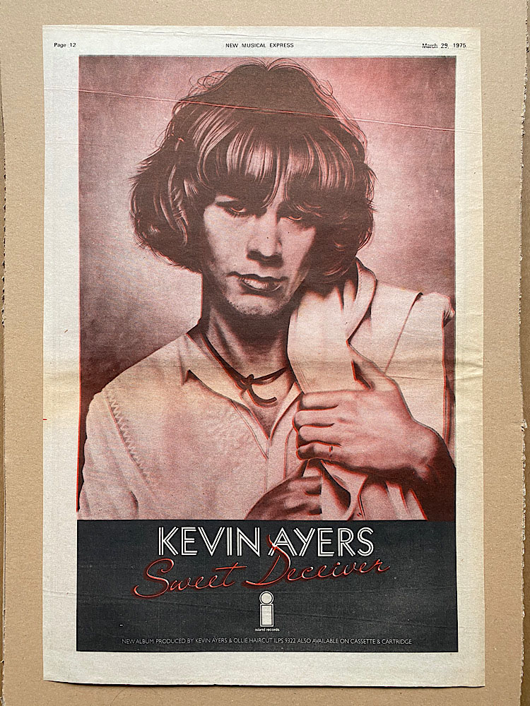 KEVIN AYERS - SWEET DECEIVER - Poster / Display