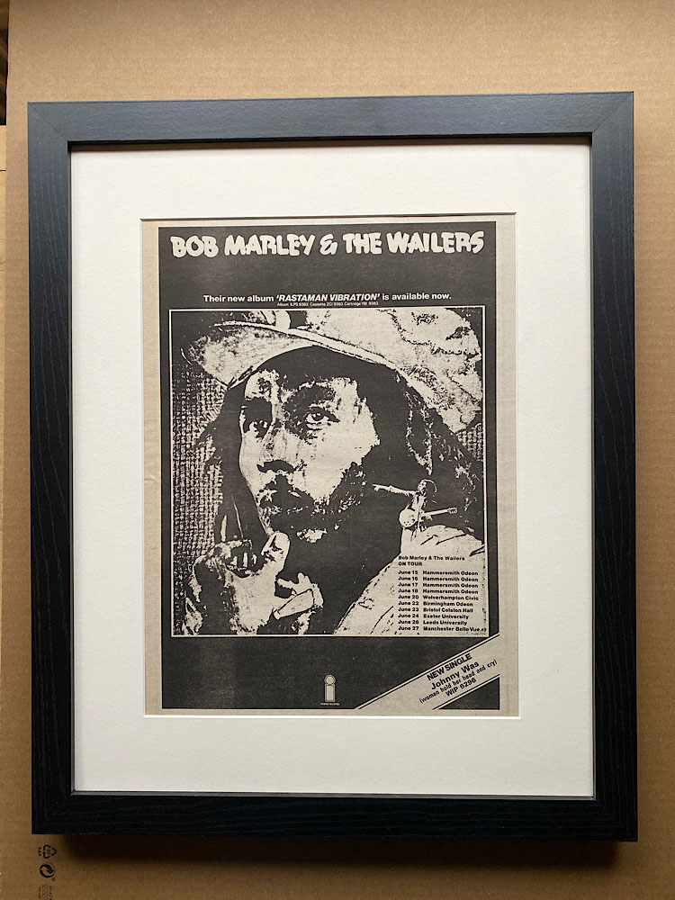 BOB MARLEY - RASTAMAN VIBRATION (FRAMED) - Poster / Display
