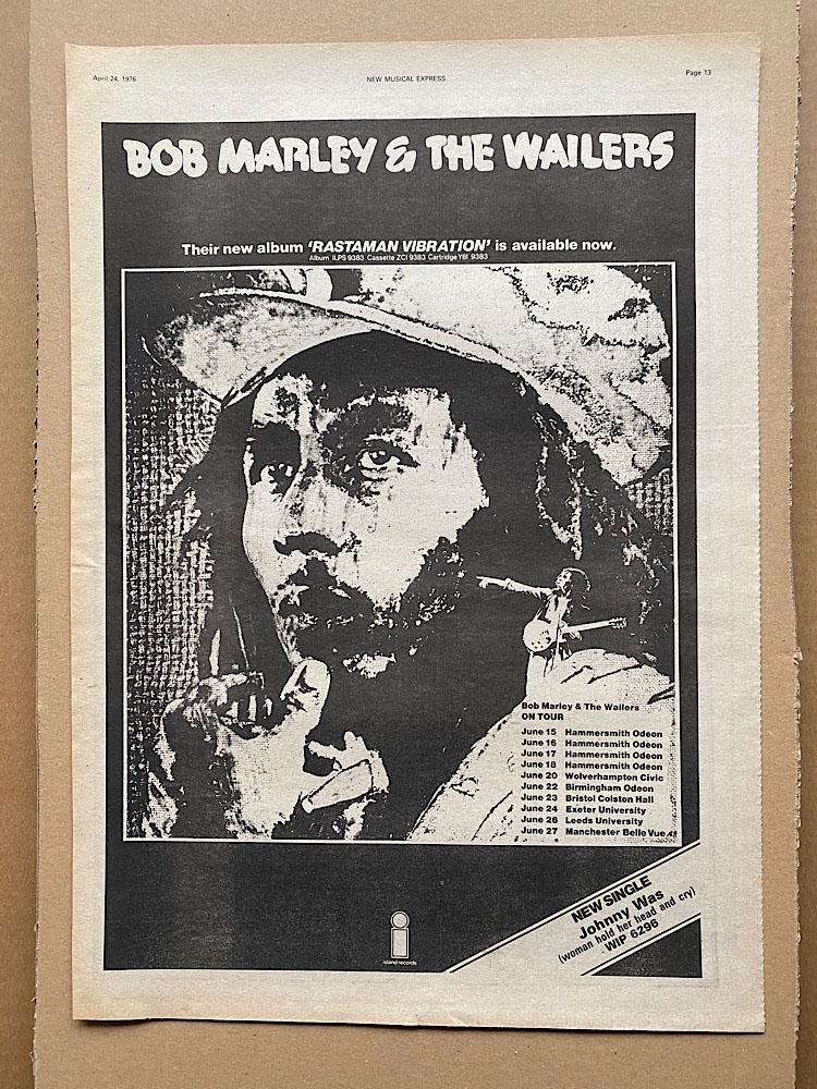 BOB MARLEY - RASTAMAN VIBRATION - Poster / Display