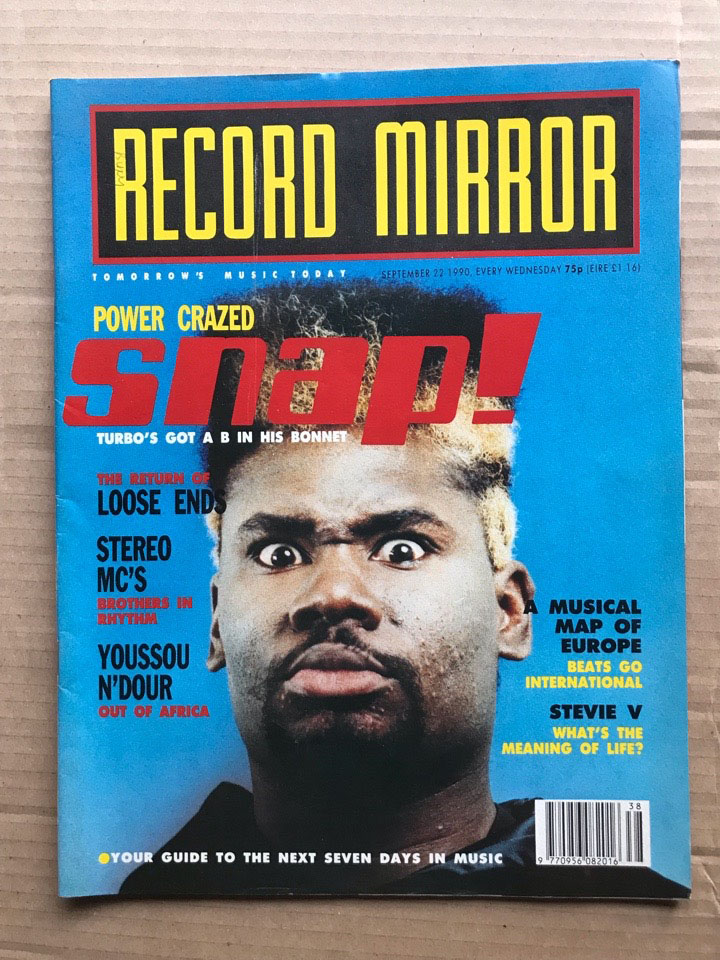 SNAP! - RECORD MIRROR - Magazine