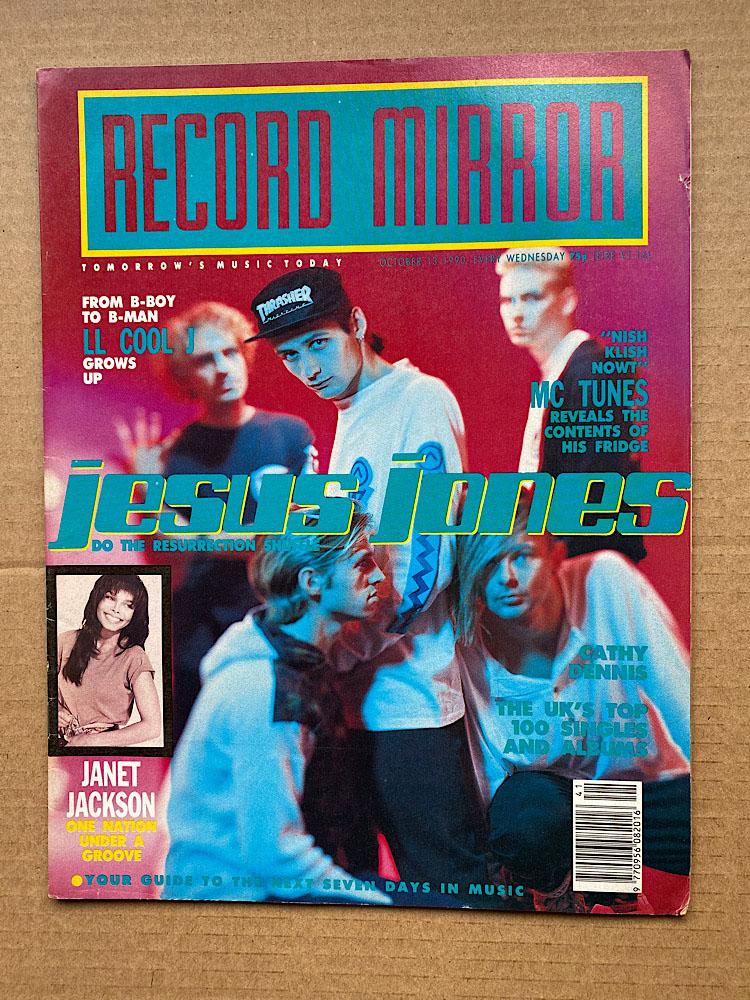 JESUS JONES - RECORD MIRROR - Magazine