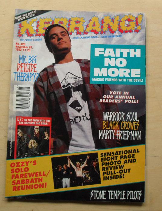 FAITH NO MORE - KERRANG NO.420