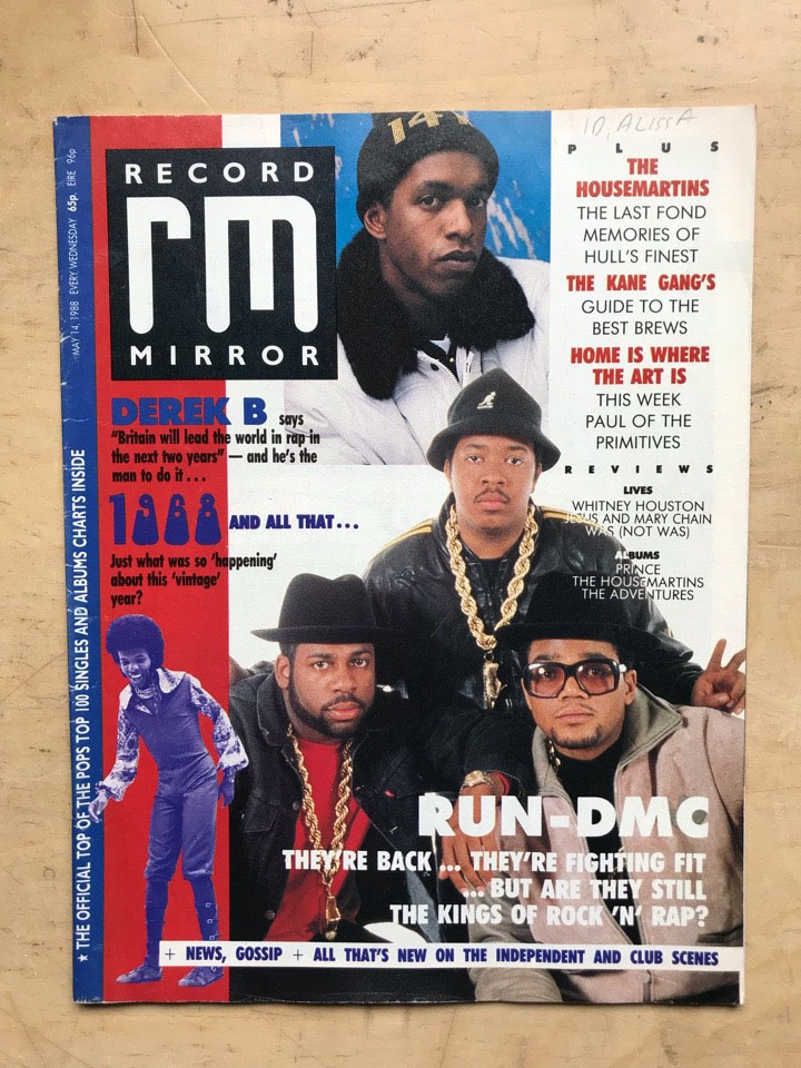 RUN DMC - RECORD MIRROR - Magazine