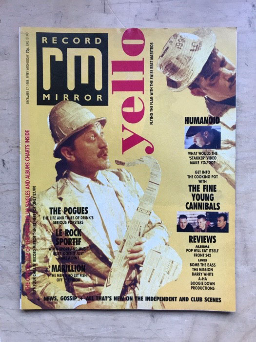 YELLO - RECORD MIRROR