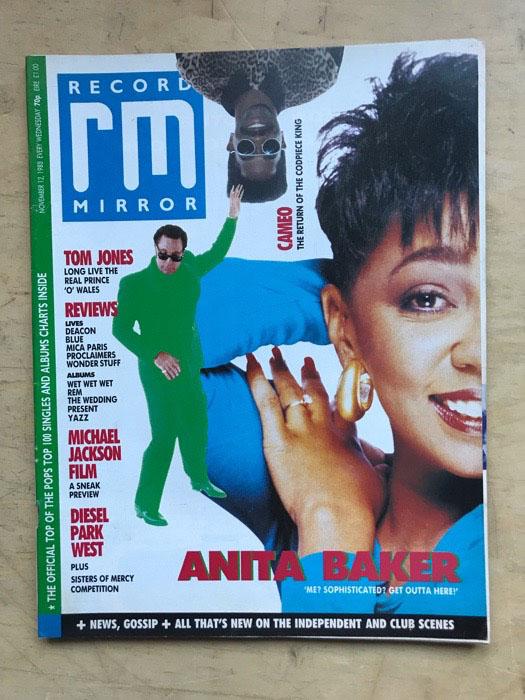 ANITA BAKER - RECORD MIRROR - Magazine
