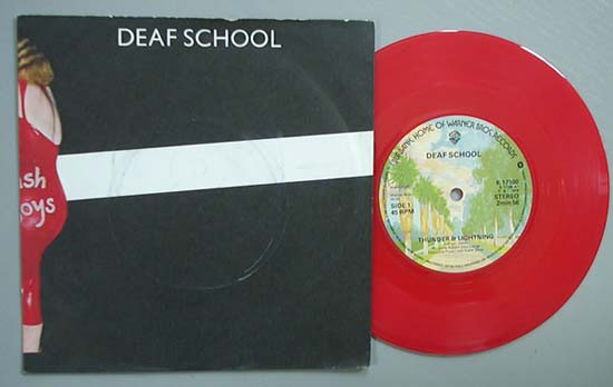 DEAF SCHOOL - THUNDER AND LIGHTNING (RED)