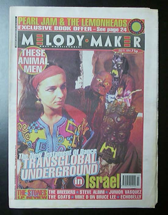 TRANSGLOBAL UNDERGROUND - MELODY MAKER - Magazine