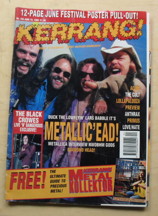 METALLICA - Kerrang No.448